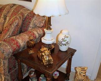 End table, Stiffel lamp