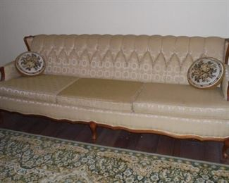 Mid century 7' long couch