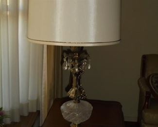 Brass & glass lamp