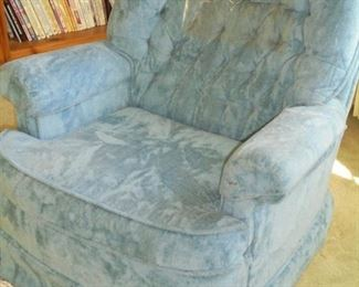 1 of 2 blue swivel rockers (no stains/rips/holes)