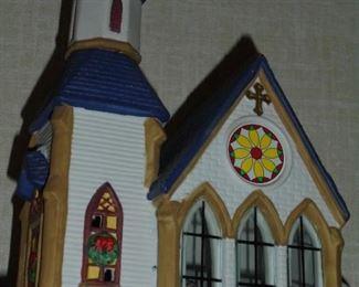 Lit church
