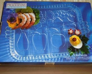 5 section relish dish in box