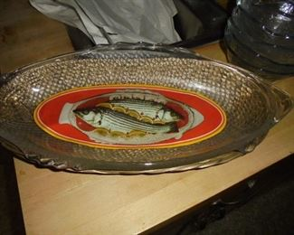 Glass fish scale bowl