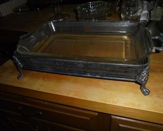 Anchor Hocking baking dish in silver server
