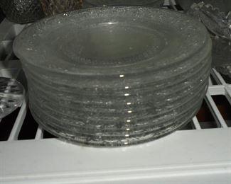 Vintage glass saucers (9)