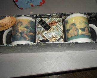 Collectible angel mugs NIB