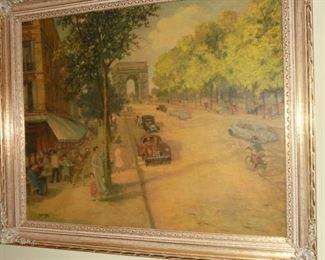 Framed picture of Paris Arc D Triumph