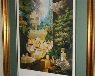 Framed & matted 'Hallelujah Square' signed Sam Butcher