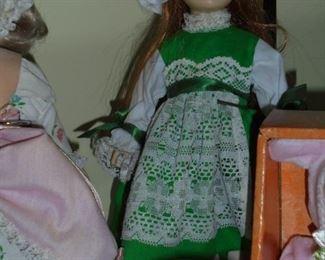 3 Effanbee dolls 1976 w/closing eyes