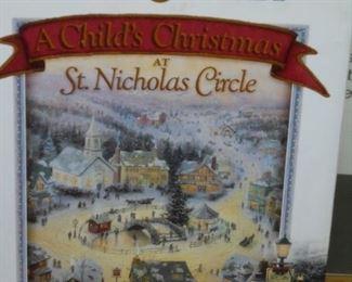 Thomas Kinkade 'A Child's Christmas at St. Nicolas Circle' book