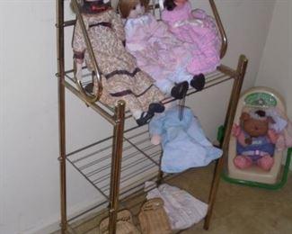 Small brass rack