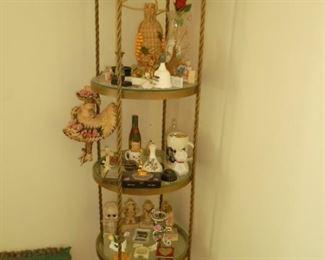 Round iron & glass shelf
