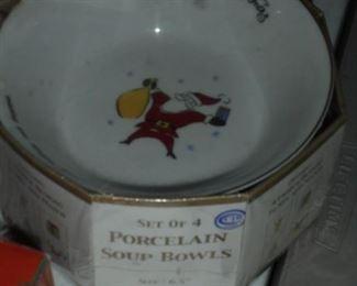 NIB Merry christmas bowls
