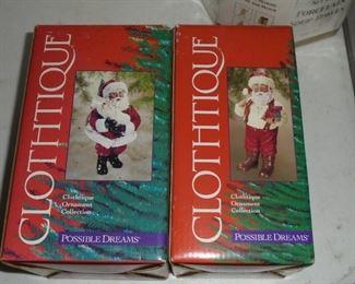 2 Clothtique Santas 'Possible Dreams' 2000 & 2001