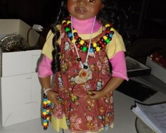 Topp Collection Indian girl doll w/original box