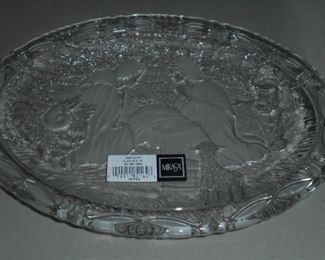 Embossed glass nativity dish by Mikasa