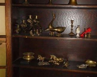 Various brass pieces