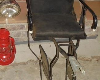 Mid century child's bicycle seat (bolts to back axle and riders seat)