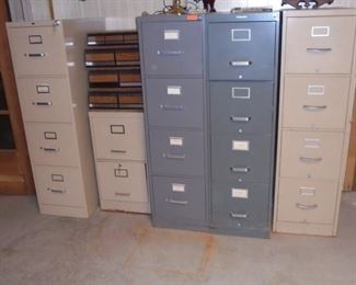 5 metal file cabinets