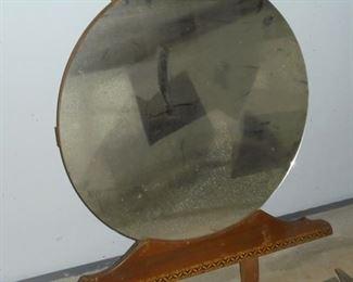 Vintage round dressing mirror