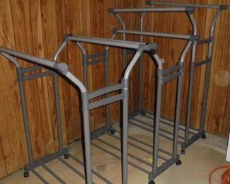 3 metal clothes racks