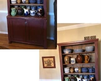 Beautiful Cabinet And LOTS of PITCHERS