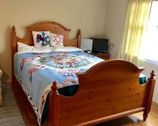 Broyhill Bedroom Set: Dresser w/ Mirror, Queen Bed, Armoire and Nightstand - THIS QUILT is NOT FOR SALE