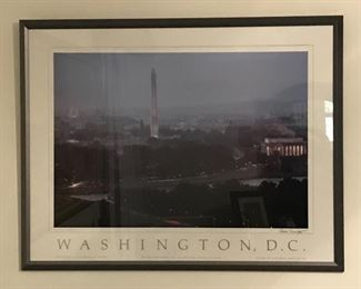 Bob Schafer signed Washington DC Poster