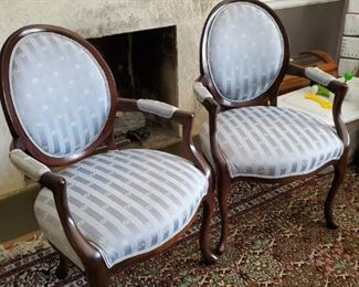 Blue Sherrill Accent Chairs
