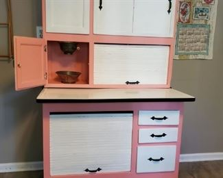"""Antique Hoosier Cabinet - Dimensions are 69"""" tall x 41"""" wide x 26"""" deep...with top pulled all the way out it is 32"""" deep"""