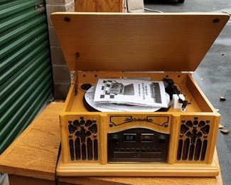 Stereo, CD, Tape player, radio never used