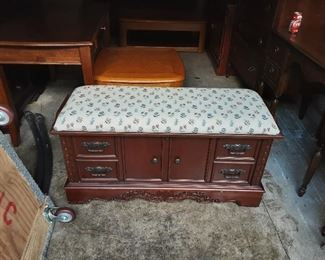 Cedar chest we with padded seat