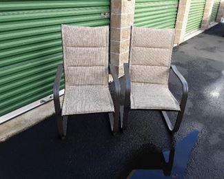 2 patio chairs