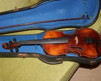 John Juzek Violin Made in Prague Signed