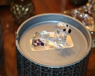 Miniature Swarovski Crystal Animals