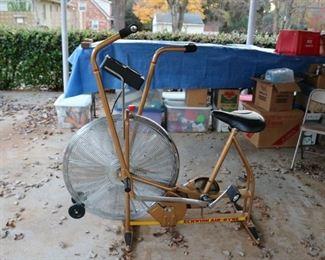 Vintage Gold Schwinn Airdyne Exercise Bike
