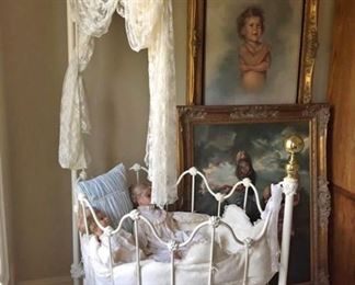 CRADLE DYNASTY W/ MATCHING TRUNDLE BED...ORIGINAL..THE TRUNDLE BED BY ITSELF IS $750 ..  DIFFERENT PRICES ON EACH