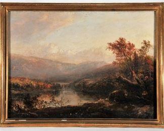 Thomas Doughty. Hudson River Painting