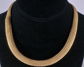 Tiffany 18k gold necklace and bracelet