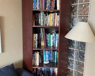 corner wooden bookshelves, 2