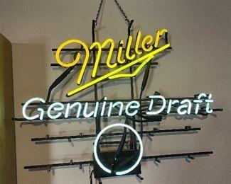 Miller Genuine Draft neon sign