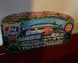 CHICAGO CUBS Old Style metal Wrigley Field sign