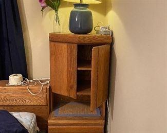 Wooden corner cabinet/night stand
