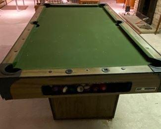 Vintage billiards table