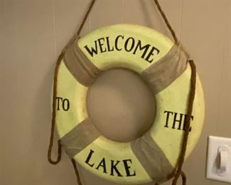 Welcome to the Lake life preserver