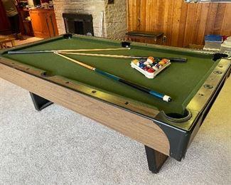 Vintage billiard table