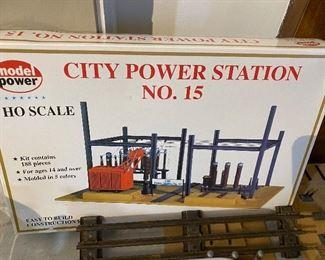 HO scale City Power Station