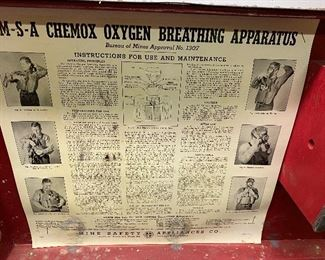 Vintage MSA Chemox Oyxgen breathing apparatus