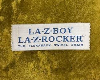 La-z-boy rocker label