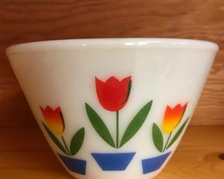 vintage Fire King 9.5 inch bowl.  there are 2